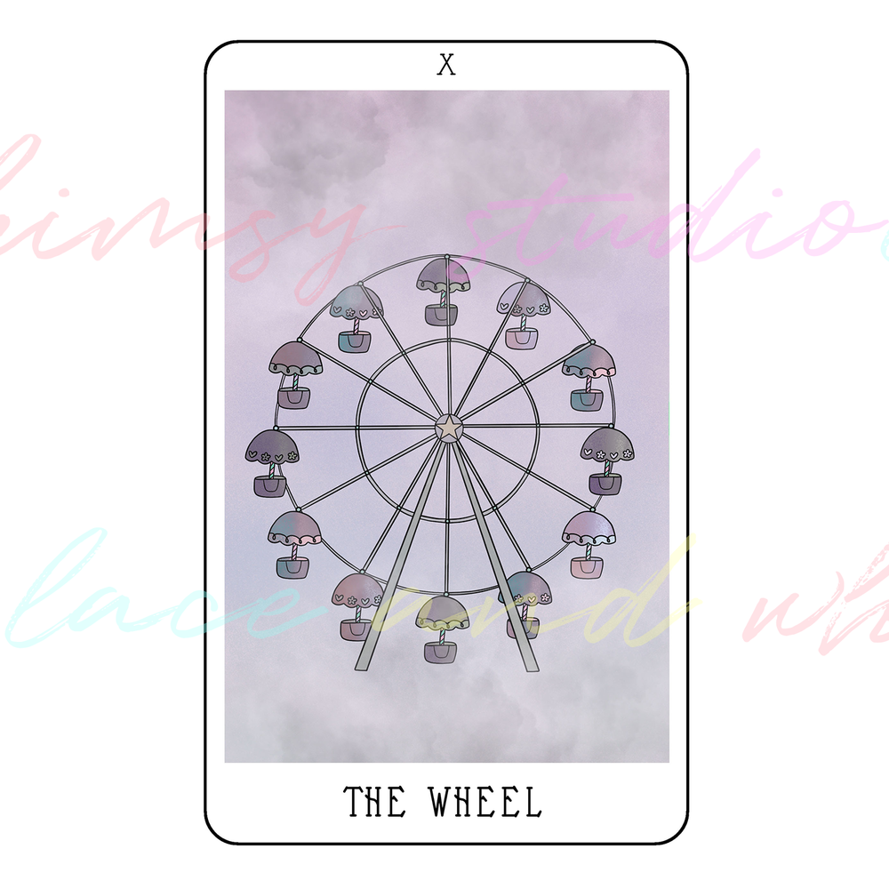 tarot-cards-illustration-series-2018-laceandwhimsy-kathy-d-clark-The-Wheel.png