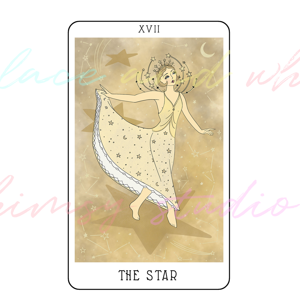 tarot-cards-illustration-series-2018-laceandwhimsy-kathy-d-clark-The-Star.png