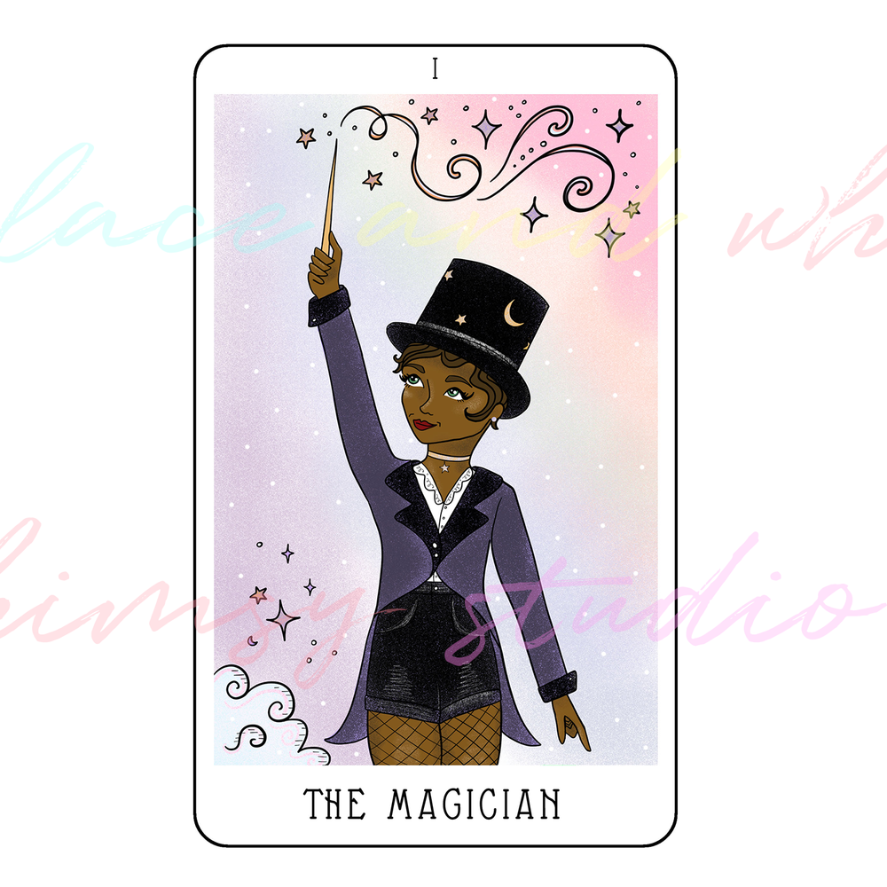 tarot-cards-illustration-series-2018-laceandwhimsy-kathy-d-clark-The-Magician.png