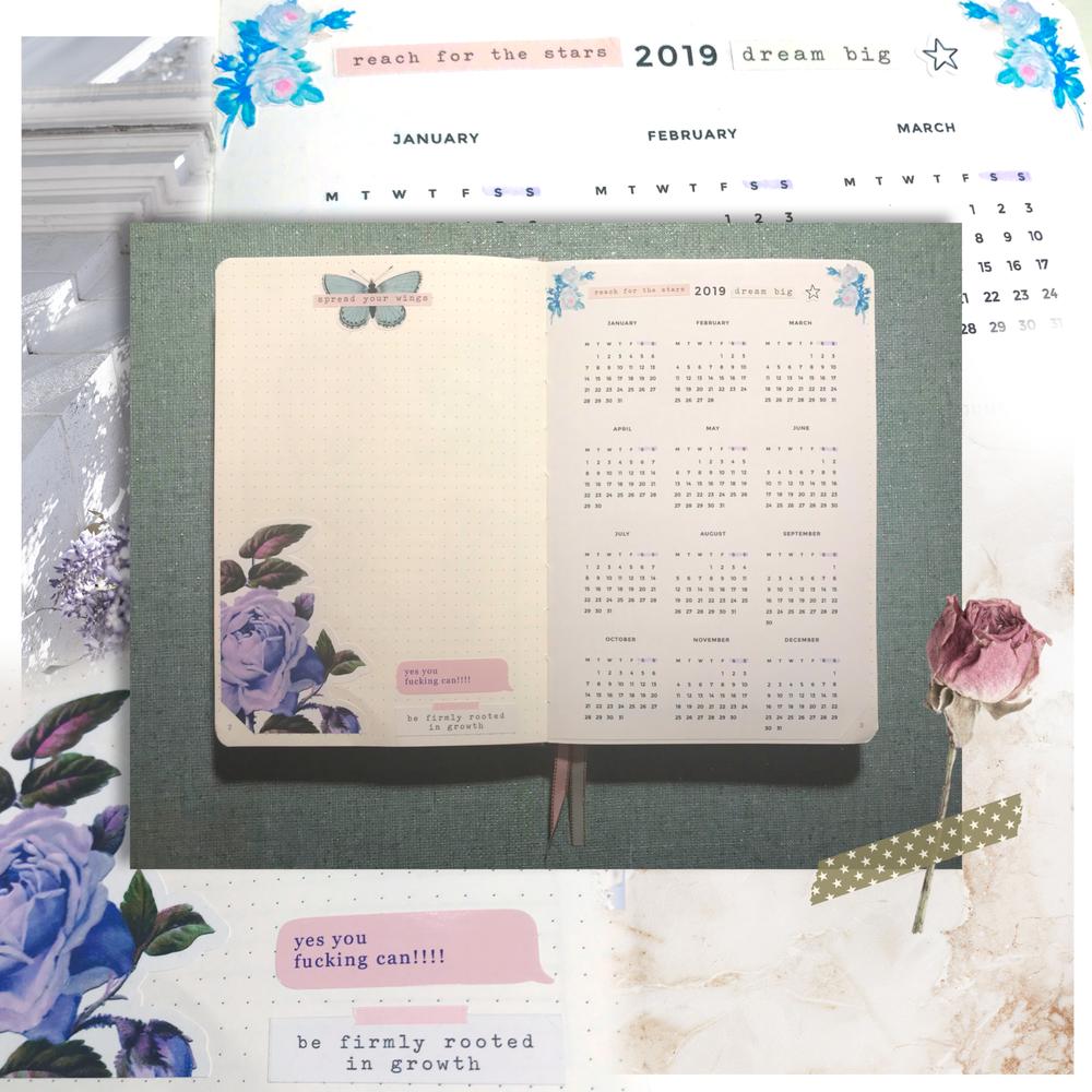 laceandwhimsy-bullet-journal-spread-2019-calendar