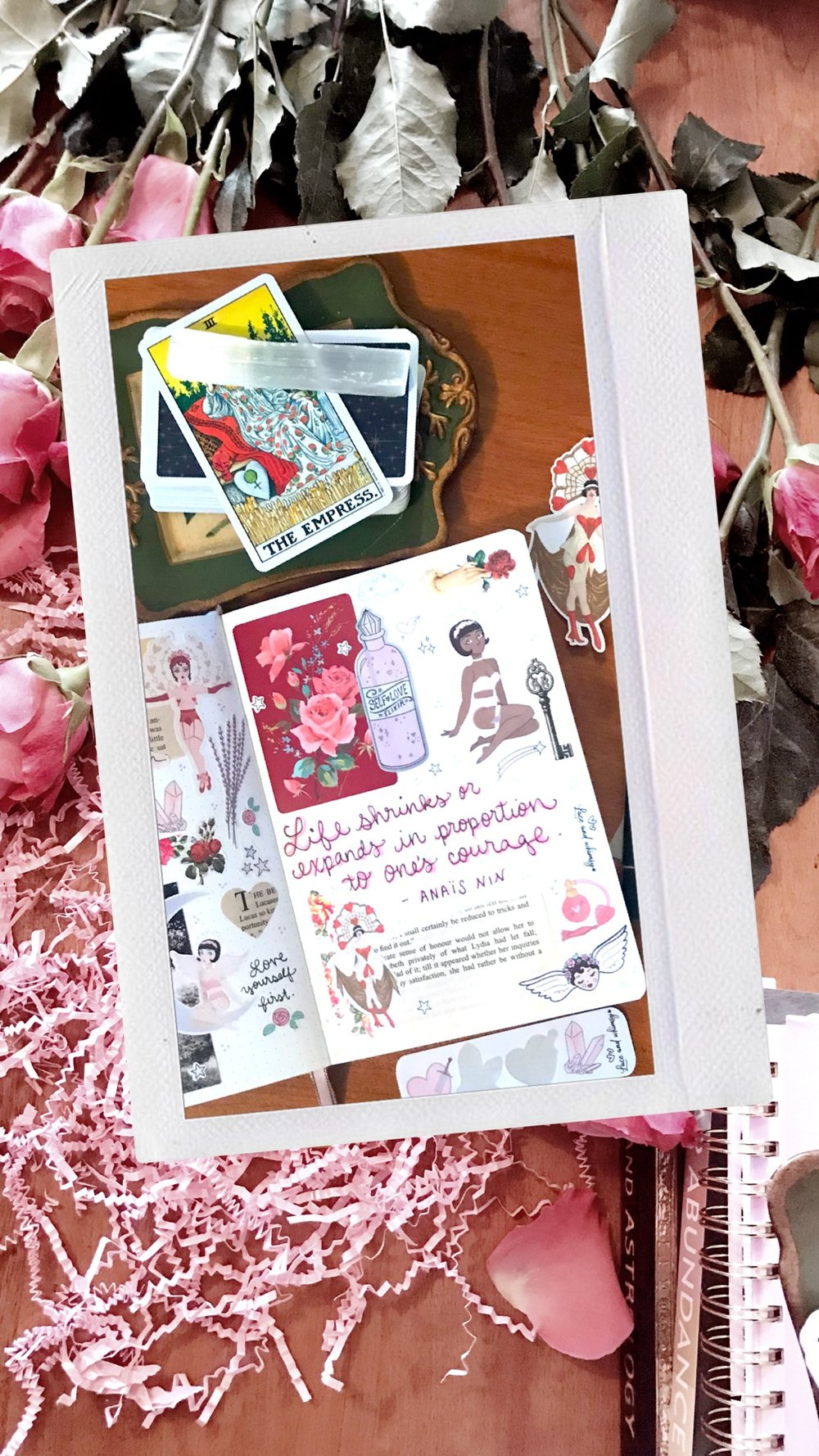 laceandwhimsy-diary-page-collage-be-your-own-valentine