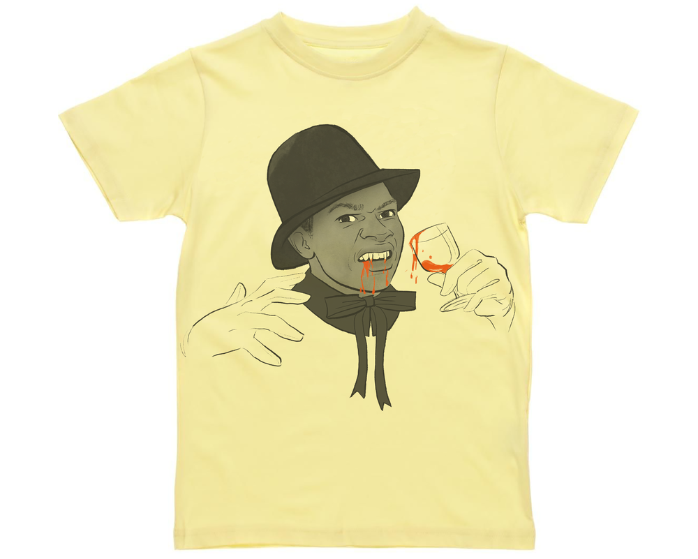 commisioned t-shirt design of Reggae artist, Lone Ranger