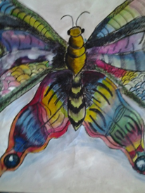 Butterfly, 29 x 41, watercolour on paper