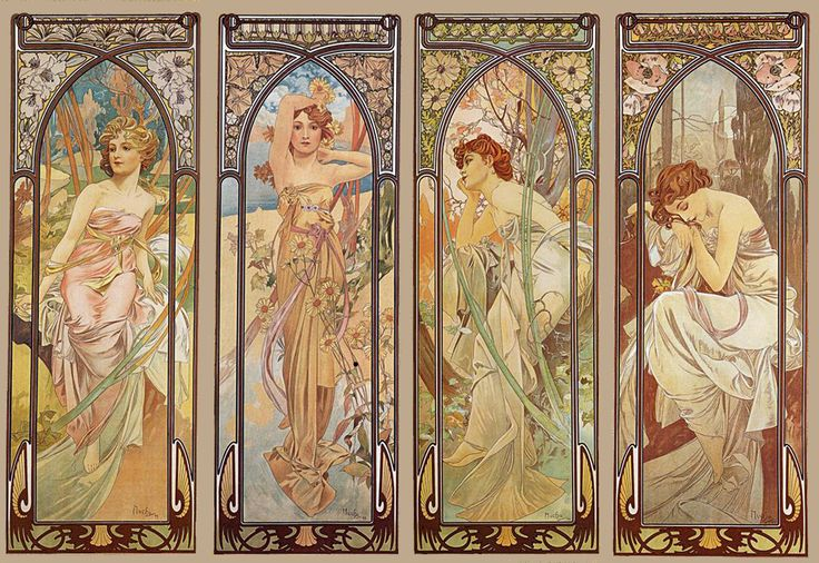 Alphonse Mucha's Four Seasons