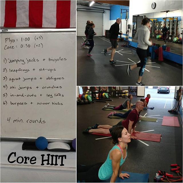 #factoryhiit crew woke up in #beastmode. Warmup, #HIIT workout, cool down stretches... only 45 min of their day.
