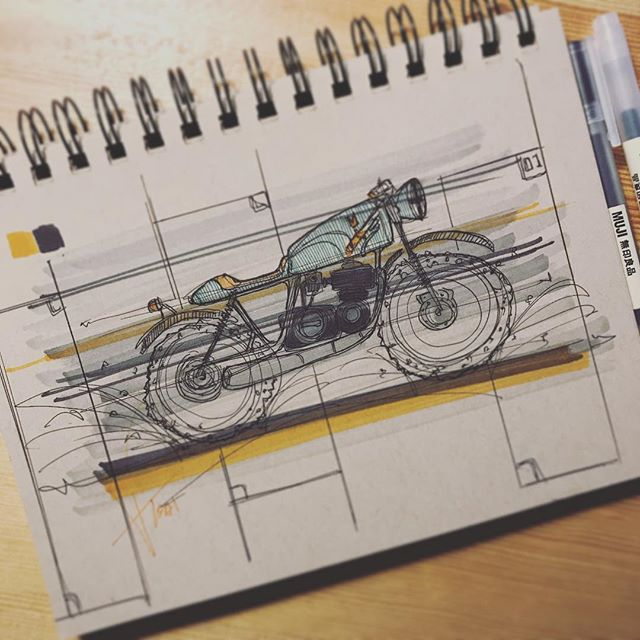 Little MOTO scribble✖️ #sketch #caferacer