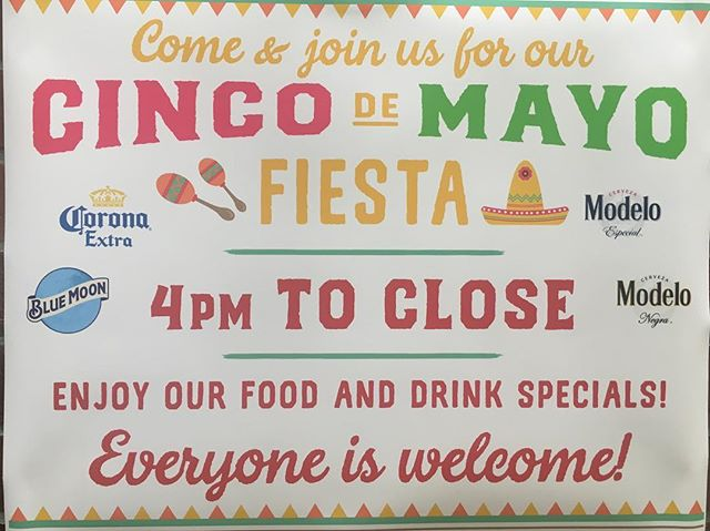 Join us for Cinco de Mayo!!!!! #cincodemayo #mexicanfood #kickssportsandgrill #sportshouse