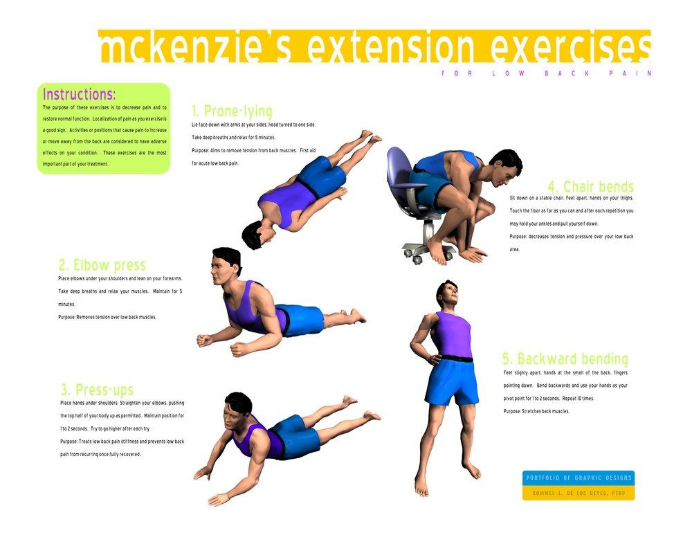 figure 3: McKenzie extension exercises