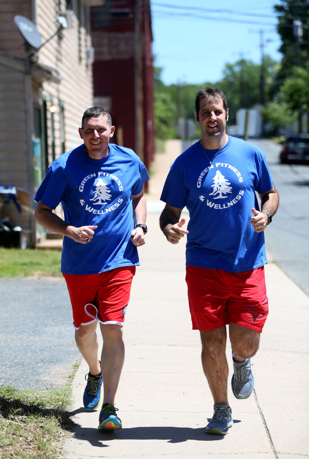 Lt Col David Graves and Garrett Green on a training run prior to the Semper 5 miler.