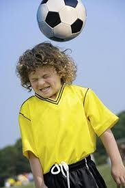 Even heading a soccer ball can cause a concussion.