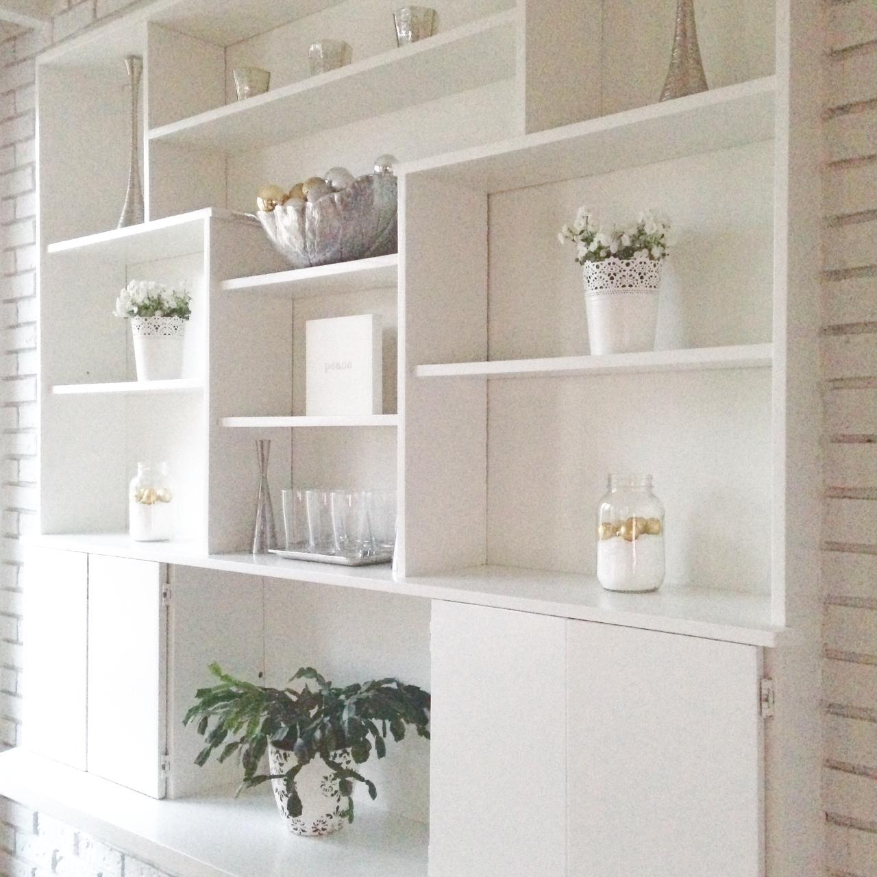 White wall unit