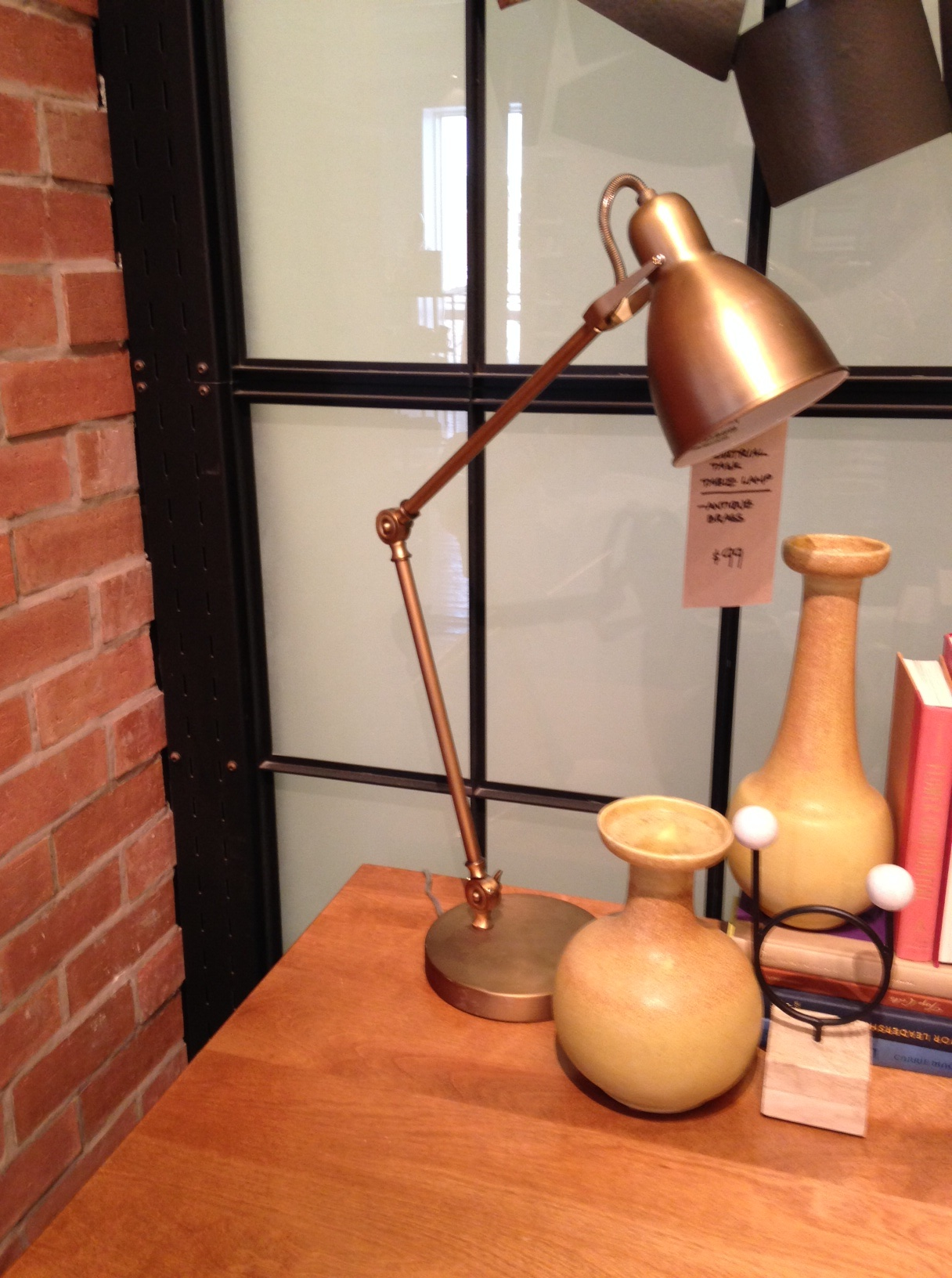 west elm brass lamp