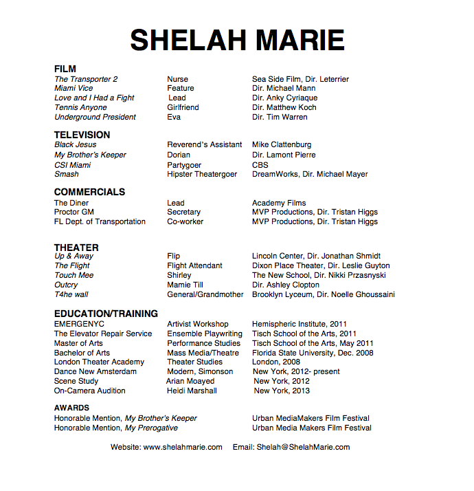 Shelah Marie Resume