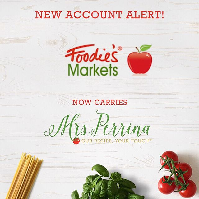 Now available at your local @foodiesmarkets 🍝#MrsPerrinaMarinara #MadeWithMrsPerrina