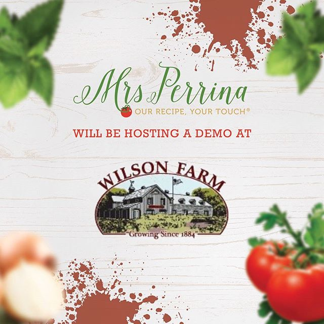"This Sunday from noon to 4:00PM, live demo for @wilsonfarm ""herb fest"". Perfect way to enjoy the perfect weather this weekend! #MrsPerrinaMarinara #WePrepIt #YouCookIt #herbfest #lexington #wilsonsfarm"