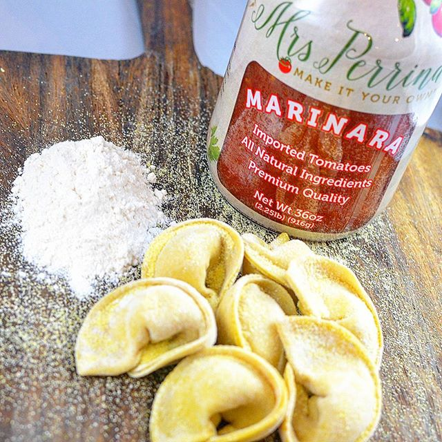 🍅Homemade pasta and #MrsPerrinaMarinara is like peanut butter and jelly #cantfakefresh #OurRecipeYourTouch