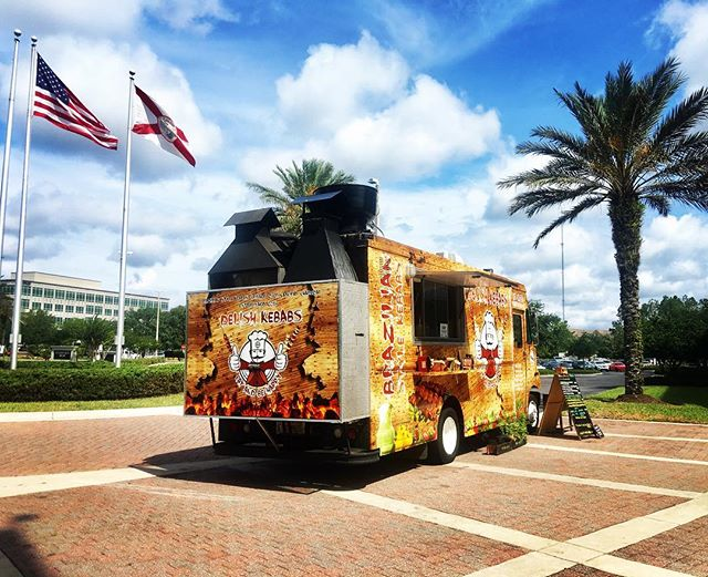 Good Morning Jax, Delish Kebabs is serving lunch at Fidelity 4601 Touchton Rd. until 2pm #foodtrucklife  See you at the truck 🚌😋🍢