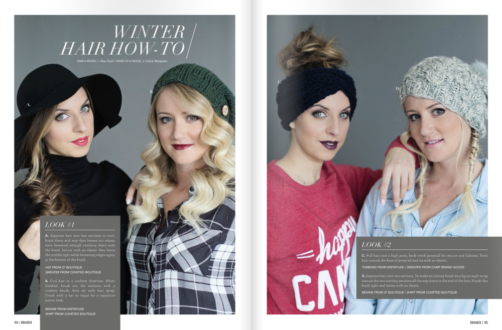 winter hair how-to Branded Magazine