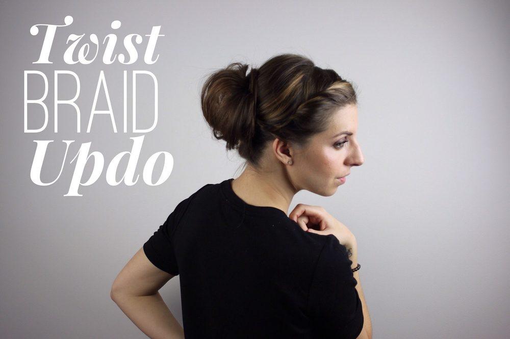 twist braid updo tutorial