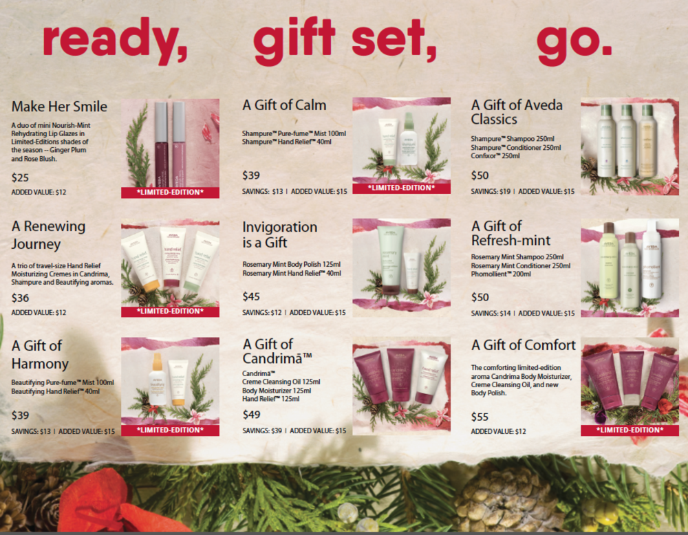 aveda holiday gift sets 2017