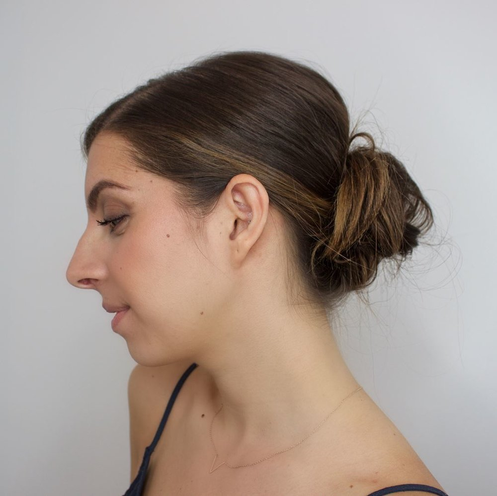 loose and low updo tutorial