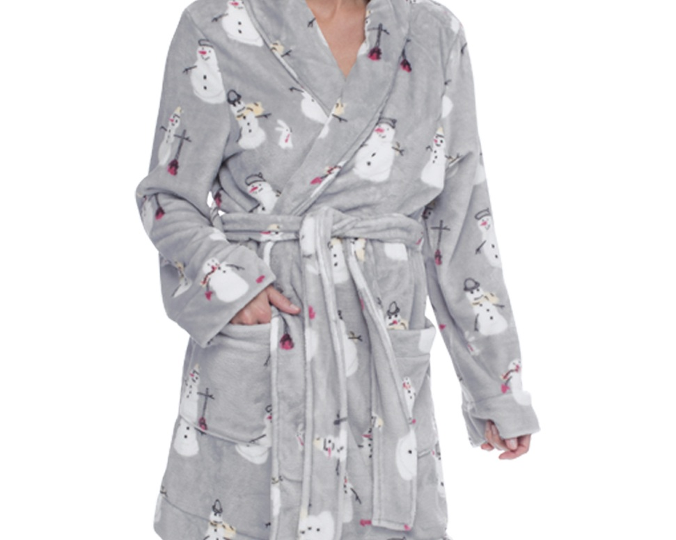 BraTopia - A fluffy, cozy robe for snuggling up by the fireplace with a hot cup of tea.$88
