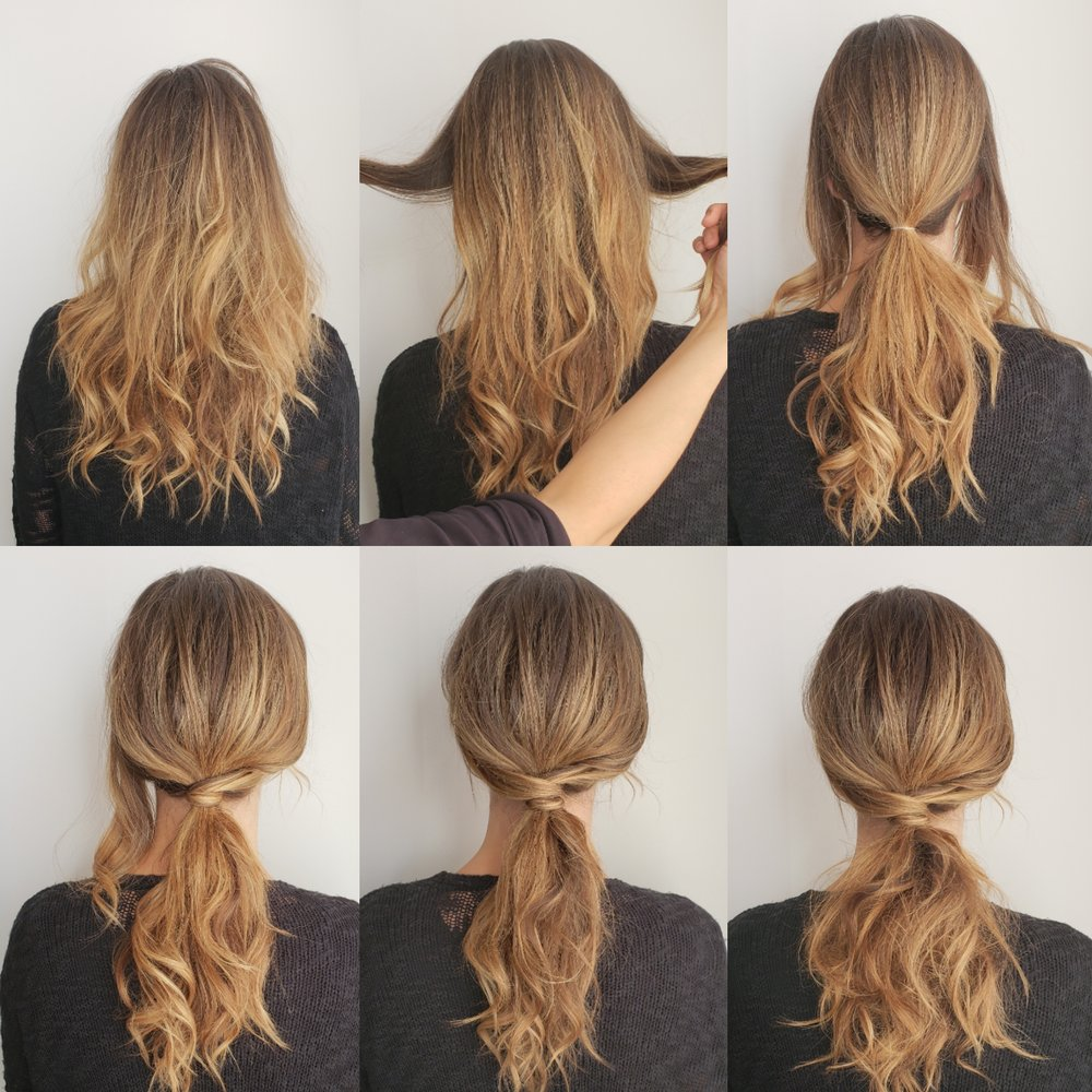 fancy ponytail step-by-step