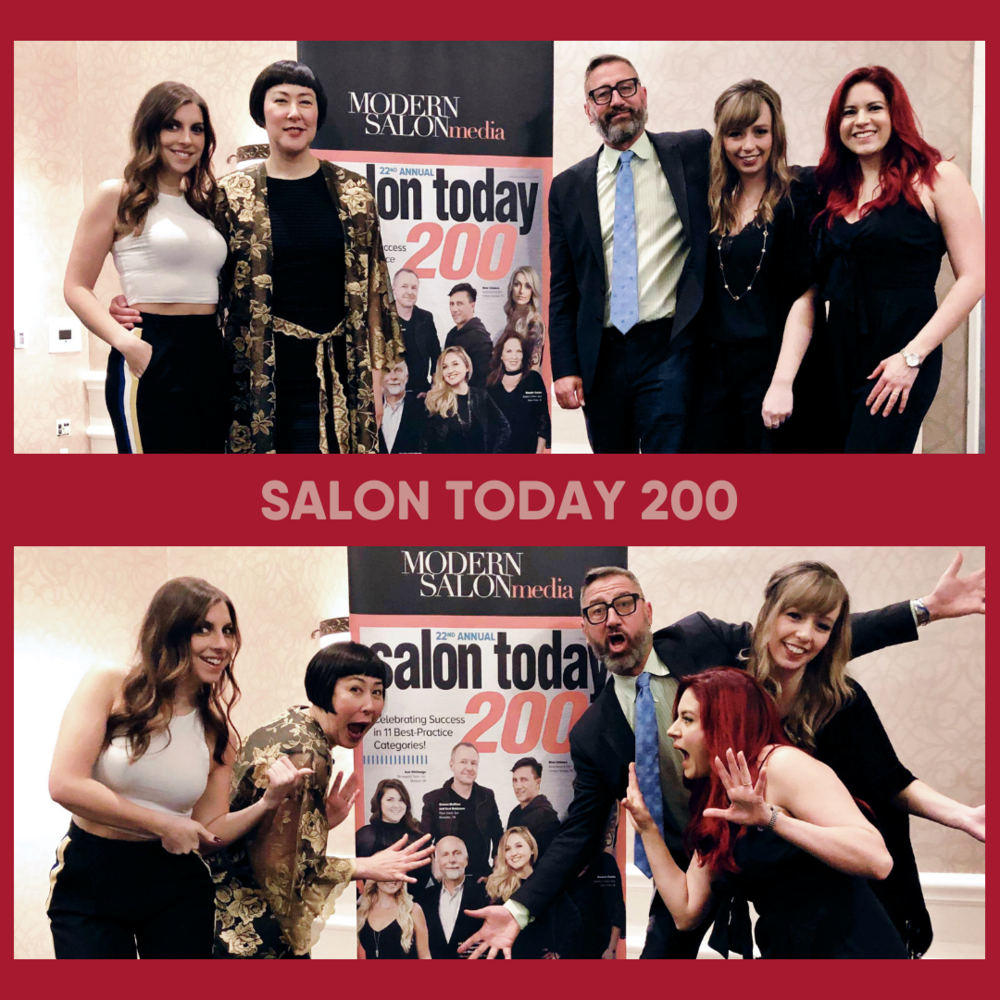 accepting our Salon Today 200 awards in New Orleans