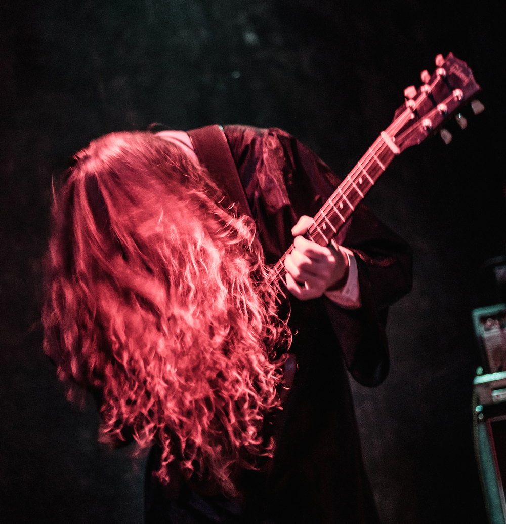 Jordan Guerette of Portland metal band FERAL performs at Geno's Rock Club on Devil's Night, October 30, 2015.