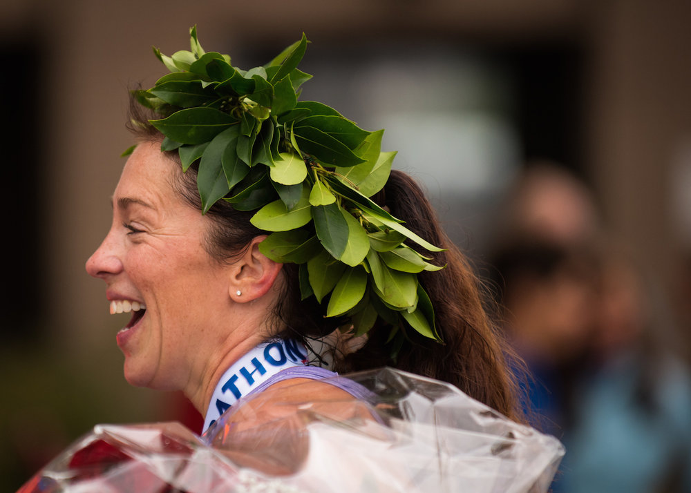 Lauren Jackson, 2016 Maine Marathon winner.
