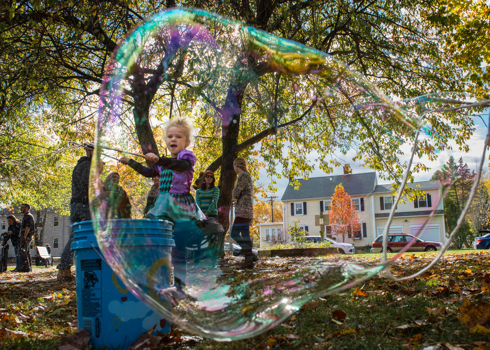 The Sunday, October 30 Celebration of Life in Longfellow Park for the six victims of the 2014 fire on Noyes Street featured food, music and bubbly fun for Maliyah Summers, 5, daughter of victim Steven Summers.