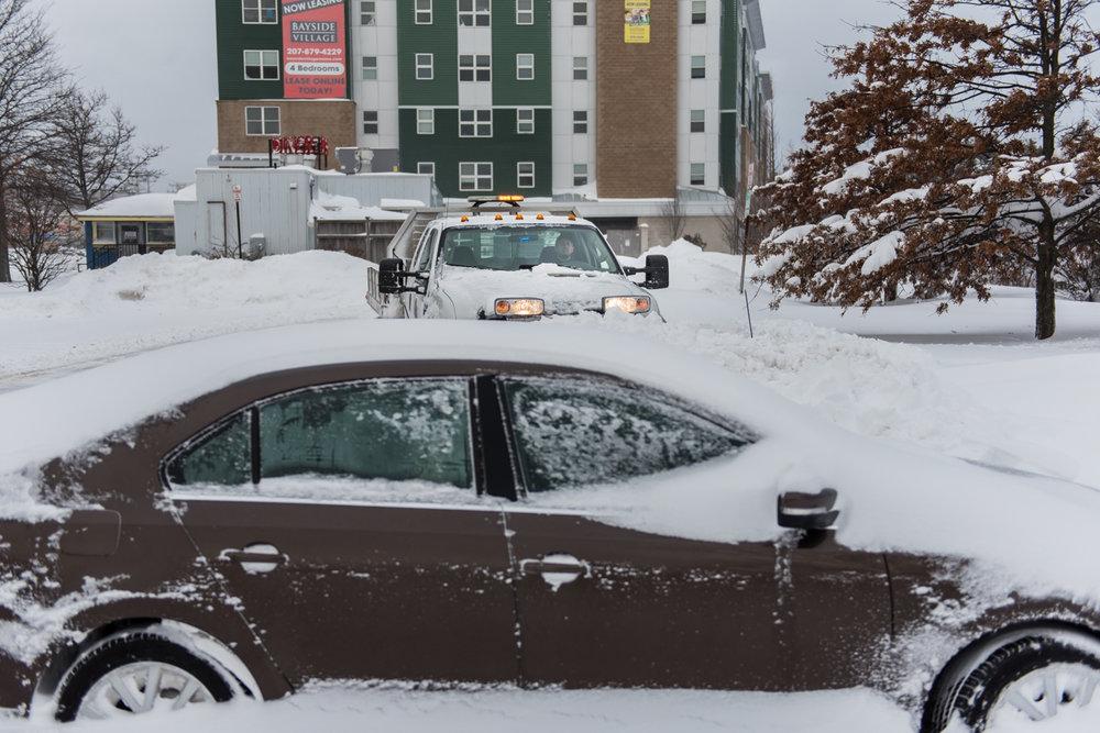 8:22am – Parking lot off Marginal Way.