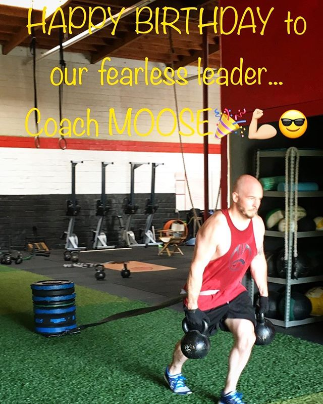 Don't forget to wish Coach Moose a happy 31st birthday today...and remind him he has 31 burpees +1 to grow on to do😜🎉🍻🏋🏼💪🏼 #hbd #mooscles #ethos #community #landpark #curtisspark #sacramento
