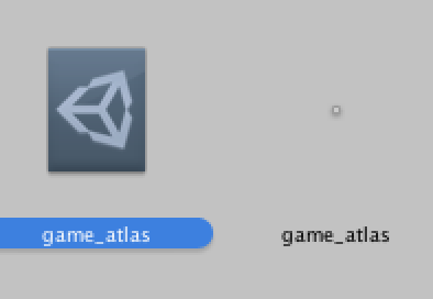 On the left is the Sprite Packer object. On the right is the Texture Atlas
