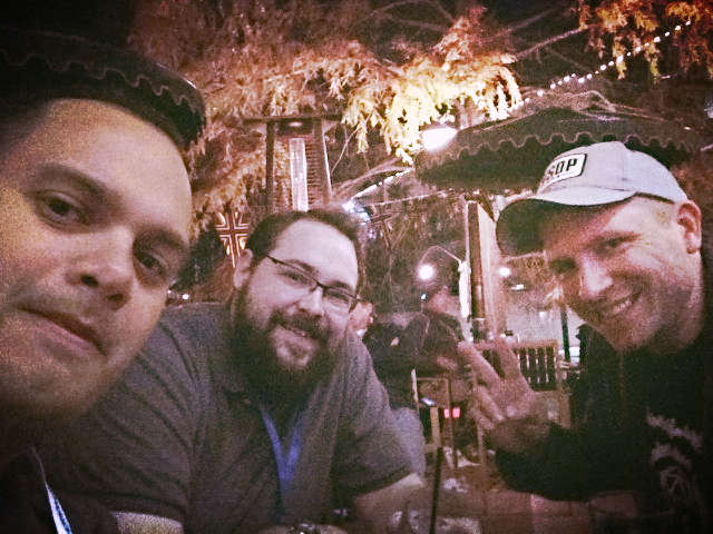 Me, Marshall, and Andrew out at night during the PAX South 2015 weekend.