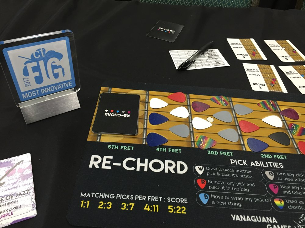 "Re-Chord won the 2017 Connecticut Festival of Indie Games ""Most Innovative"" award."