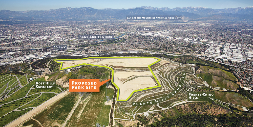 The proposed Puente Hills Landfill Park site, neighbors,and surrounding views