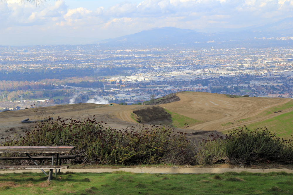 Picnic overlook at the proposed Puente Hills Landfill Park