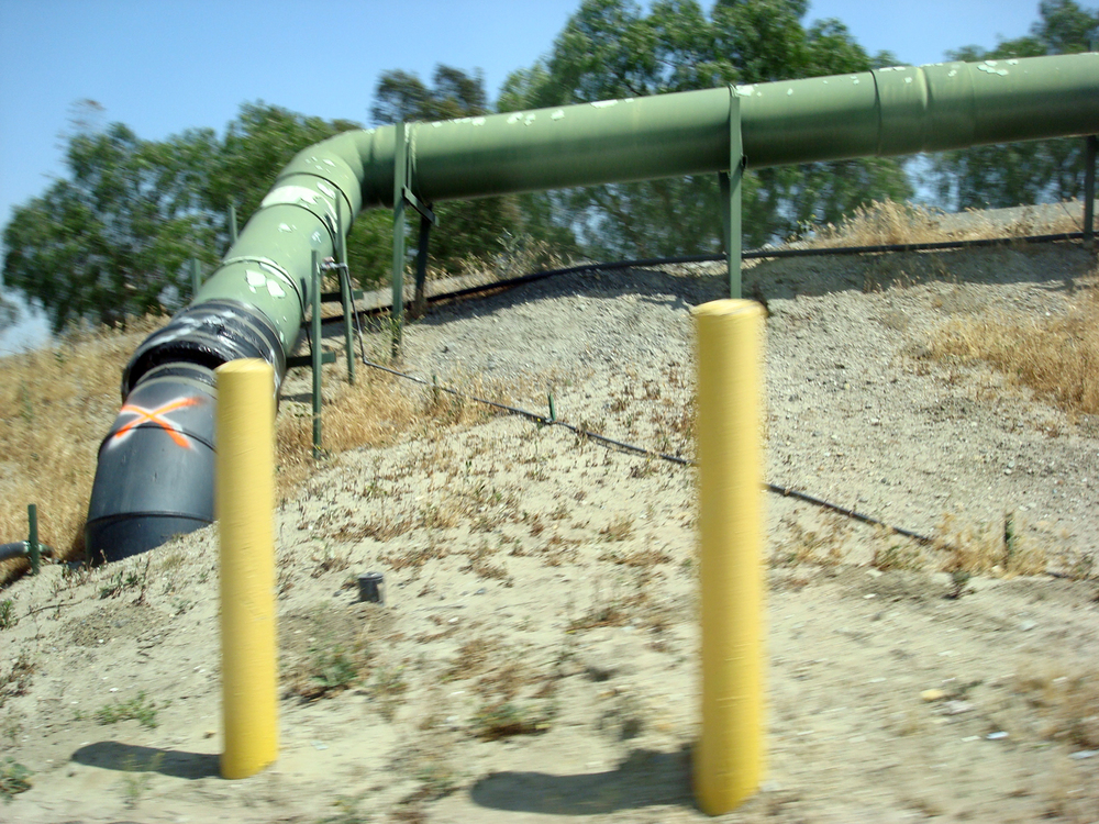 Methane collection pipe at Puente Hills Landfill
