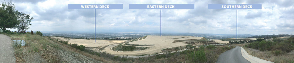 Panorama view of the Western, Eastern and Southern Decks of the proposed Puente Hills Landfill Park