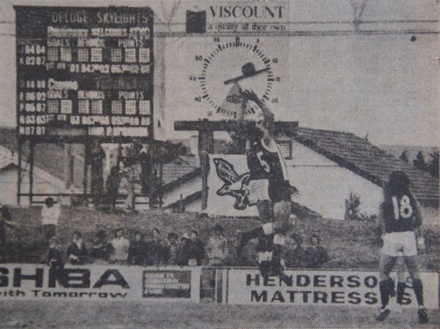 opening round OF VFA match between Brunswick and Coburg  AT GILLON OVAL on Sunday 18 April 1976.
