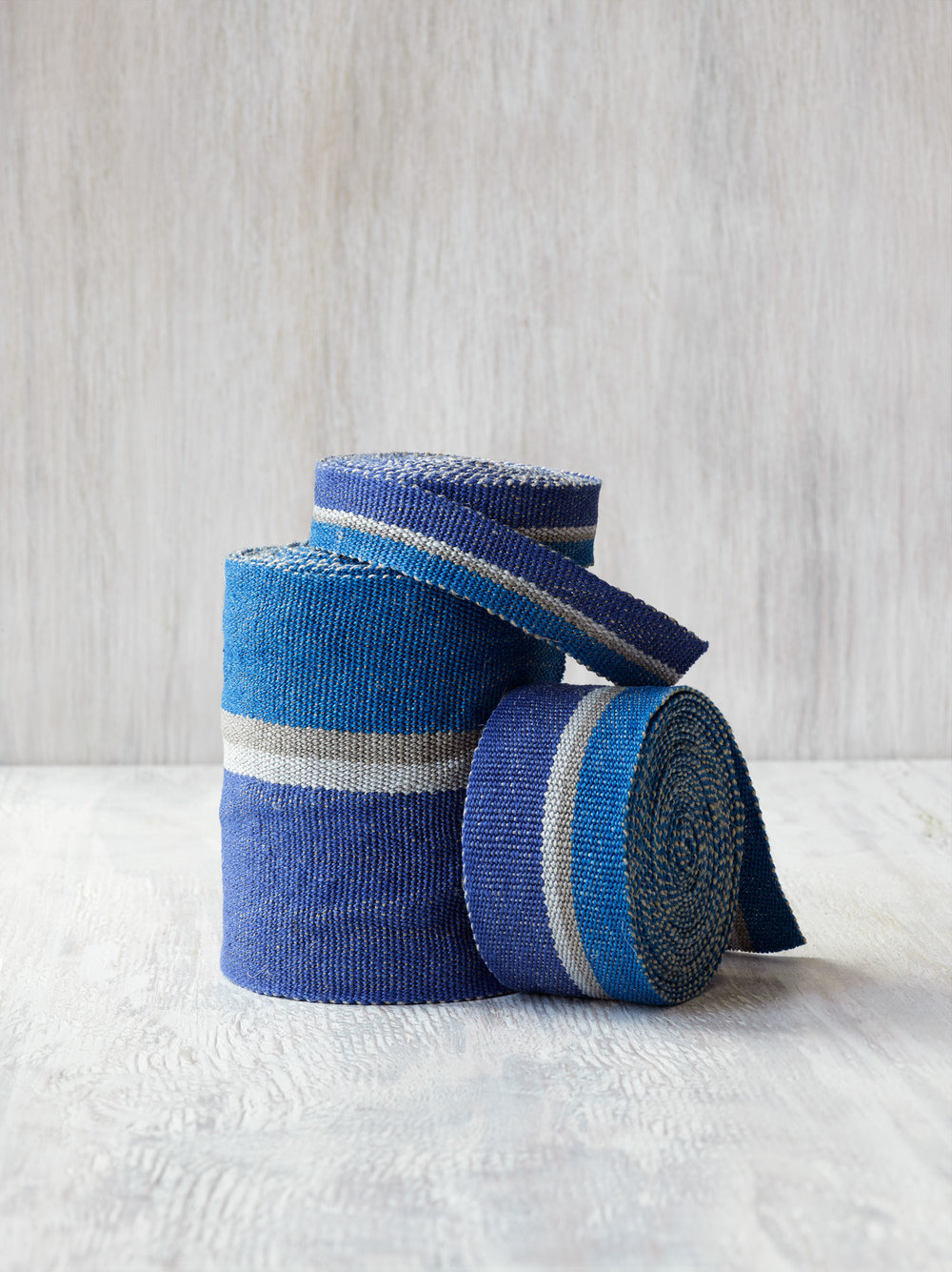 Ocean Trio of Linen Tape Trims
