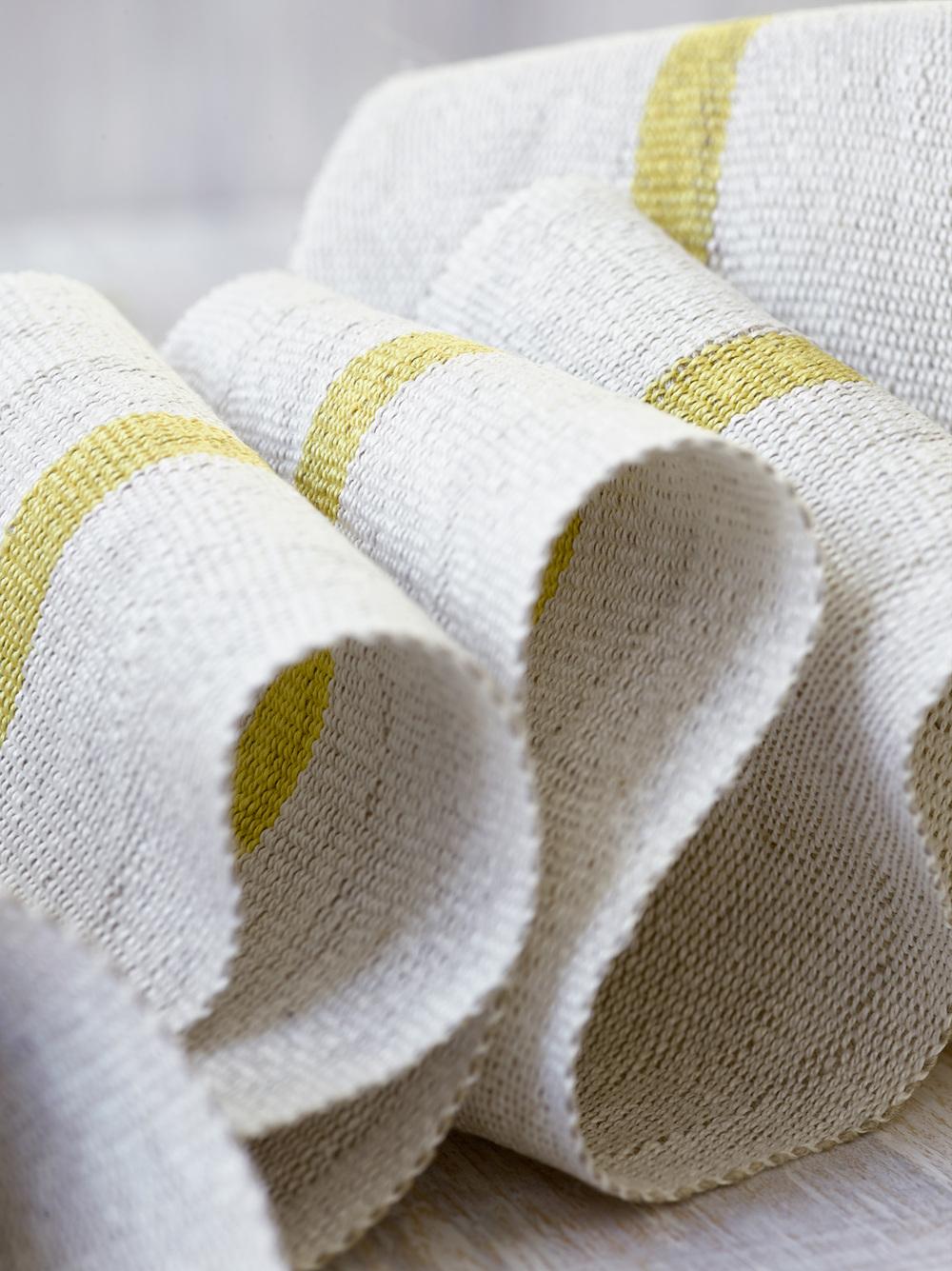Fresh Yellow Handwoven Linen Tape