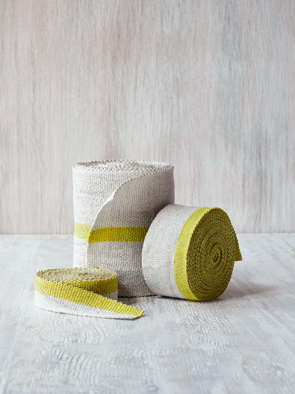 Fresh Yellow Trio of Linen Tape Trims