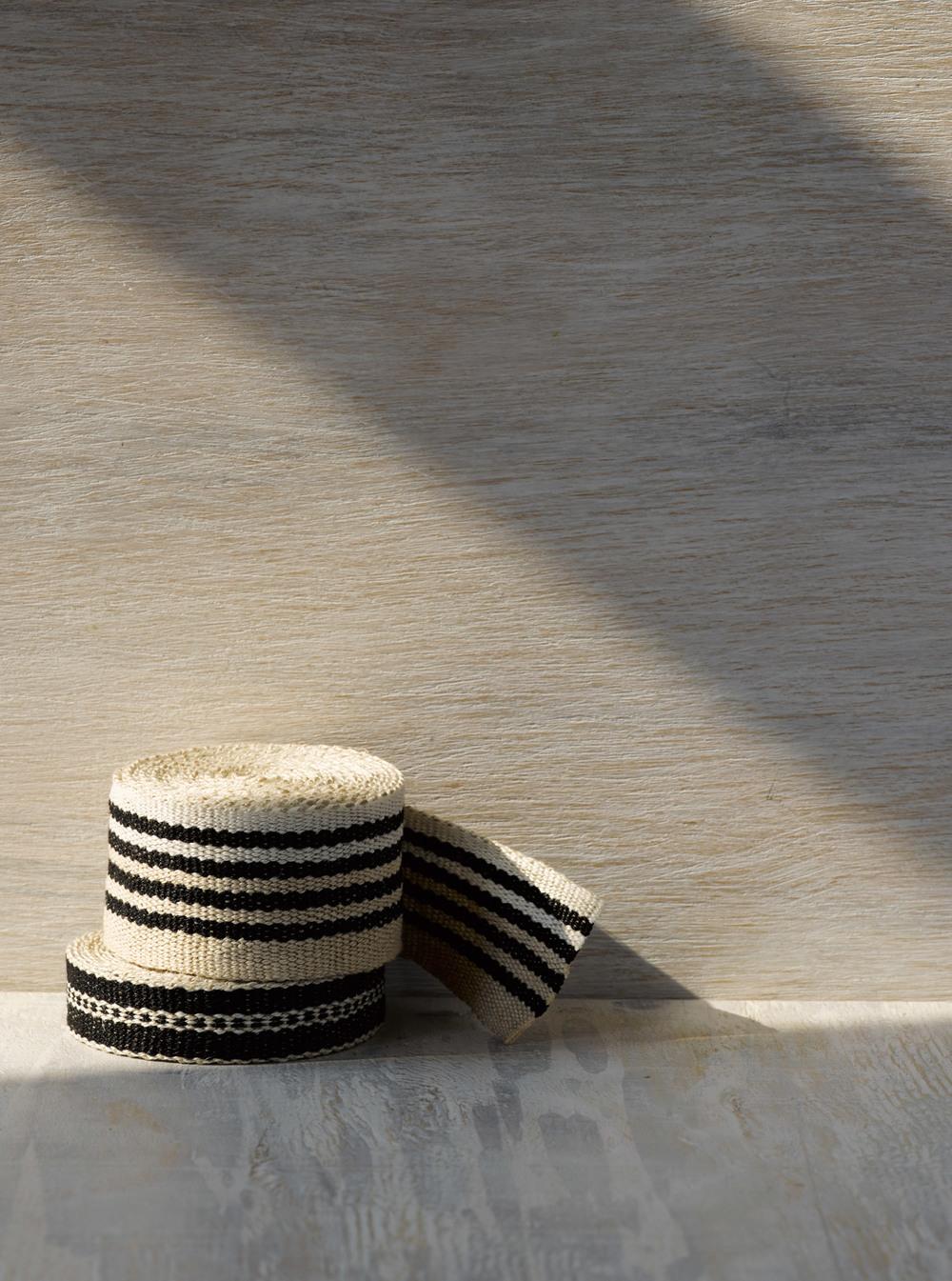 Old Tuxedo Medium and Narrow Linen Tape Trims