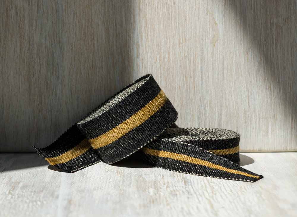 Modern Neutral 1: Black and Bronze Linen Tape