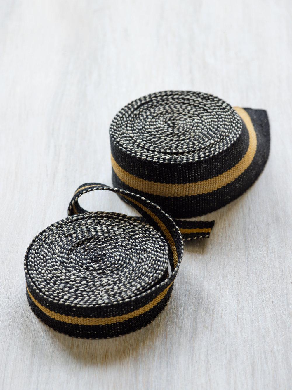 Modern Neutral I: Black and Bronze, medium and narrow tape