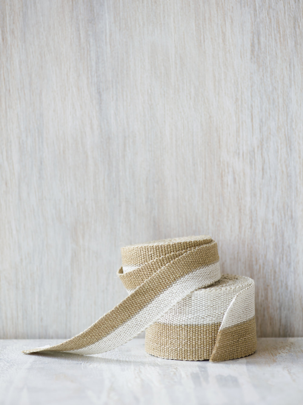 Modern Neutral III: White and Gold, medium and narrow tapes