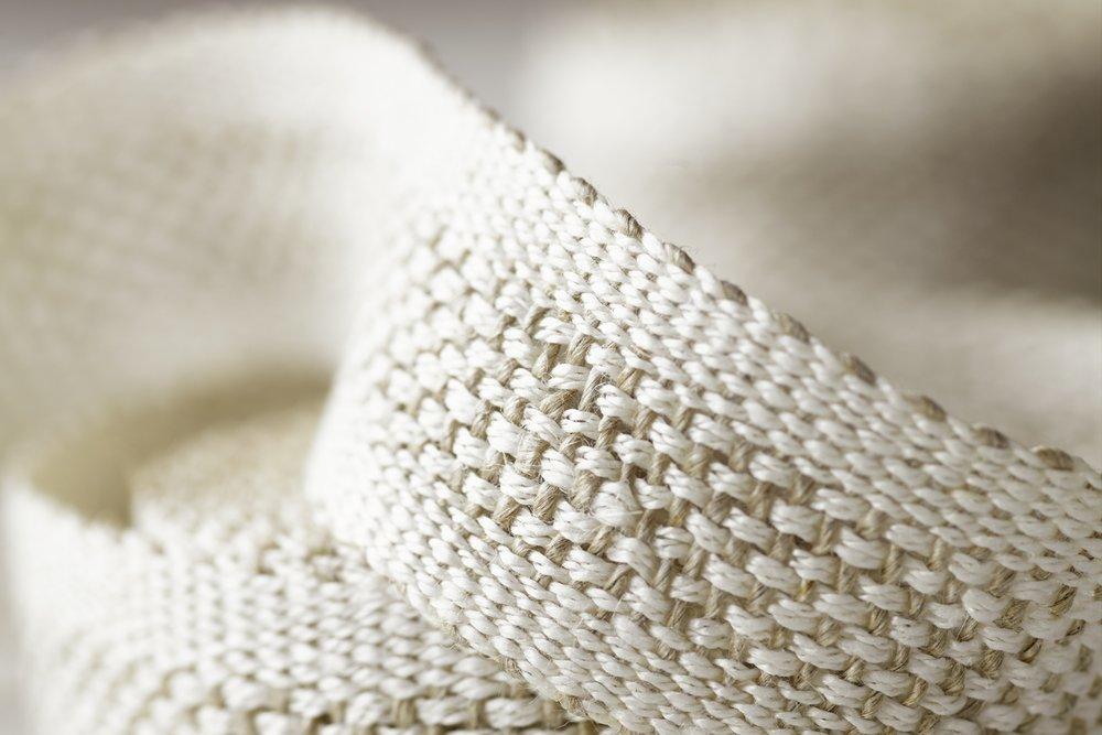 White Fretwork Handwoven Linen Tape Trim
