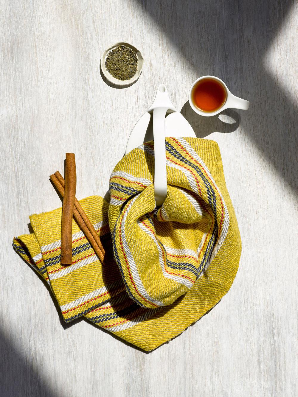 Summer Yellow Handwoven Hand Towel